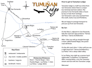 How to get to Tumuñan Lodge