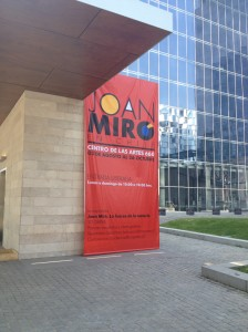 A free exhibition of Joan Miró in Las Condes - Santiago.