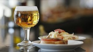 Spanish Tapas and Cold Beer in Santiago